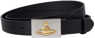 Vivienne Westwood Leather Orb Buckle Belt