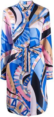 Emilio Pucci Wally-print silk dress