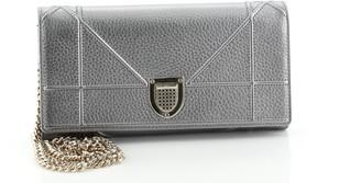 Christian Dior Diorama Croisiere Chain Wallet Grained Calfskin