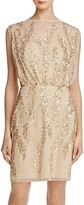 Aidan Mattox Bead-Embellished Blouson Dress