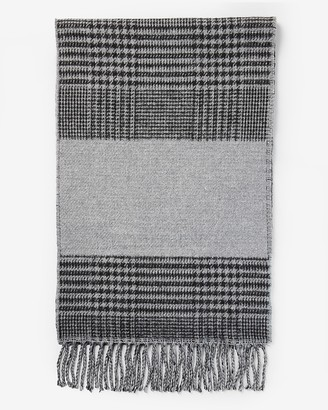 Express Houndstooth Wool-Blend Scarf