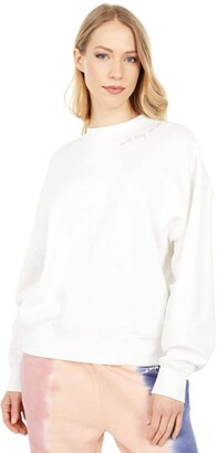 Spiritual Gangster Things Hailey Crew Pullover (Stone) Women's Clothing