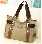 Kalevel Classy Canvas Large Handbags with Pockets Casual Shoulder Bag Sling Bag Vintage Hobo Simple Style Purses and Handbags for Women Teen Girls