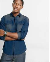 Express faded denim shirt