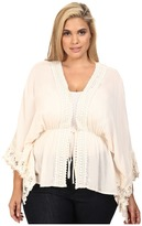 Christin Michaels Plus Size Adia Crochet Detail Top