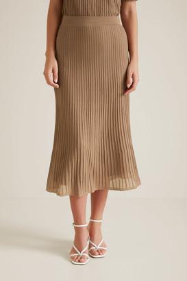 Seed Heritage Pleated Knit Skirt