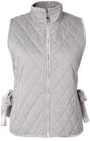 Banana Republic Quilted Vest with Velvet Trim