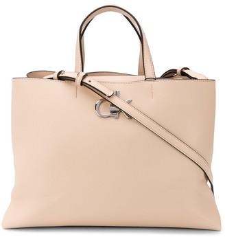 Calvin Klein Logo Clasp Tote Bag