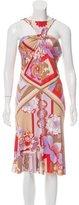 Versace Floral Print Silk Dress w/ Tags