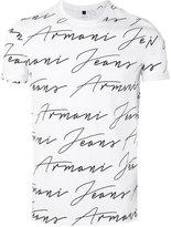 Armani Jeans branded T-shirt - men - Cotton - M