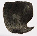 Remhumhai,One Piece Clip-on Hair Bangs(Fringes),Flat Bangs,Hair Extensions Color:Darkest Brown,100% Human Hair,Remy Hair