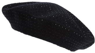 e85ec1653 Crystal Embellished Wool Beret