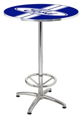 """27"""" Round Ford Stripes Cafe Table Ford"""