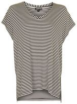 Topshop Stripe side split t-shirt