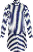 Burberry Striped Silk and Cotton-Blend Dress