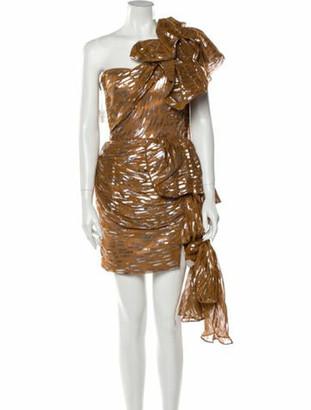 Maticevski 2019 Mini Dress w/ Tags Brown