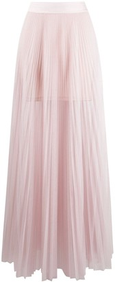 Patrizia Pepe Pleated Full-Length Skirt