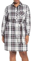 Foxcroft Plus Size Women's Wrinkle Free Tartan Shirtdress