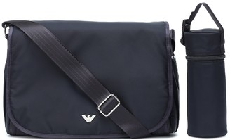 Changing bag with mat and pouch