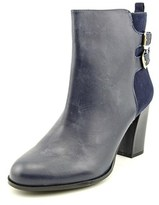 Kenneth Cole Reaction Cross Night Women Round Toe Leather Blue Ankle Boot.