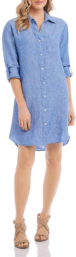 Karen Kane Linen Shirt Dress