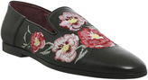 Poste Fiore Embroidered Loafers