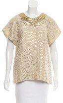 3.1 Phillip Lim Gold-Tone Short Sleeve Top