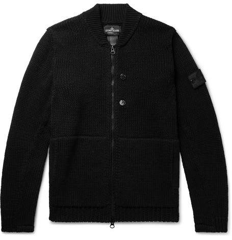 Stone Island Shadow Project Hemp And Cotton-Blend Zip-Up Cardigan