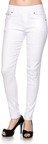 Jane White Twill Jeggings