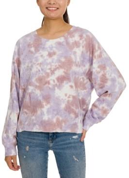 Hippie Rose Juniors' Tie-Dye Sweatshirt