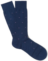 Pantherella Stepney Patterned Merino Wool-Blend Socks