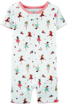 Carter's Toddler Girls Ballerina Snug Fit Romper Pajama Set