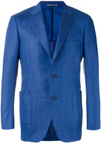 Canali two button blazer - men - Silk/Linen/Flax/Cupro/Wool - 48