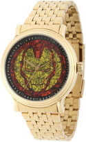Marvel Mens Gold-Tone Stainless Steel Strap Iron Man Bracelet Watch