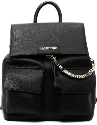 Love Moschino Chain Detail Backpack