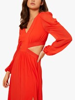 Thumbnail for your product : Little Mistress by Vogue Williams Side Split Maxi Dress, Red