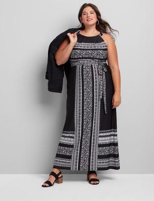 Lane Bryant Sleeveless Halter Maxi Dress