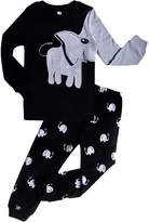 DDSOL Elephant Boys Pajamas Toddler Cotton Sleepwear Clothes T Shirt Pants Set for Kids 4