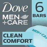 Dove Men+Care Body and Face Bar, Clean Comfort 4 oz, 6 Bar