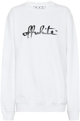 Off-White Logo oversized cotton sweatshirt