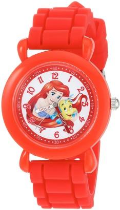Disney Girls' Ariel Analog-Quartz Watch with Silicone Strap