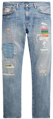 Polo Ralph Lauren Sullivan Slim-Fit Patch Distressed Jeans