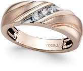 Macy's Men's Diamond Diagonal Textured Band (1/5 ct. t.w.) in 10k Rose Gold