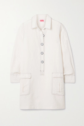 Solid & Striped The Tati Linen-blend Mini Dress - White
