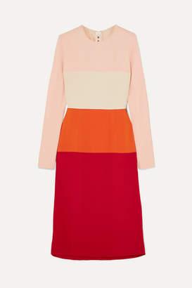 Marni Color-block Crepe Dress - Red