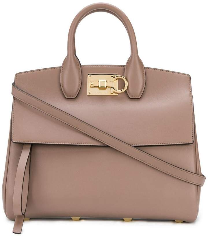 Salvatore Ferragamo Studio leather tote bag