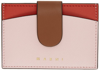 Marni Pink and Red Law Card Holder