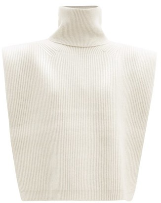 Totême Roll-neck Wool-blend Bib - Cream
