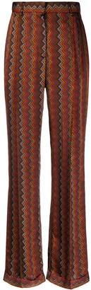 M Missoni Zig-Zag Pattern Trousers
