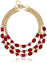 "Anne Klein Night On The Town"" Gold-Tone Epoxy Statement Necklace, 16"""